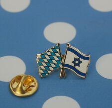 Freundschaftspin Bayern Israel Pin Button Badge Fahne