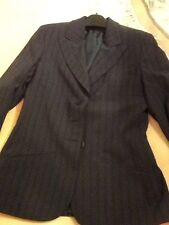 Ladies Smart Pin Striped Jacket. Size 8 . New With Labels . Navy With Pink Strip