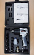 "17PC 1/2"" Twin Hammer Air Impact Wrench Set w/Sockets Max Torque 750ft/lb"