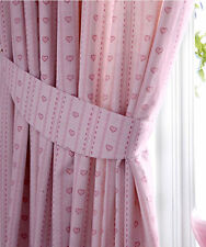 Girls Pink Love Hearts Curtains 72s