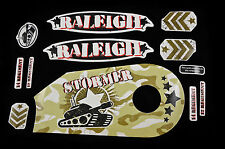 "DECAL SET FOR RALEIGH STORMER 14"" ARMY CAMO TANK STICKER SUIT KIDS BIKES"