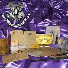 Personalised Harry Potter MEGA gift set! Hogwarts Letter, wand, quill, yule&more