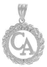 "Recovery from Cocaine Jewelry Pendant, Sterling, ""CA"" Initials in Circle #762"