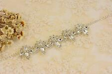 Vintage Rhinestone Chain Crytal Applique Diamante Motif for Necklace Accessories