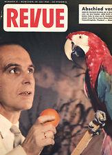 Rarität Zeitschrift REVUE Nr. 31 von 1955, Cover Professor Grzimek und Koko