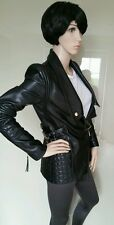 Immaculate.ROBERTO Just CAVALLI.leather biker jacket.coat.uk 8/40 £1795.black