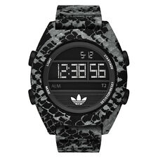 ADIDAS ORIGINALS ADH3046 CALGARY GRAY & BLACK ANIMAL PRINT SILICONE MENS WATCH