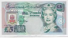 1995 GIBRALTAR BANKNOTE***5 POUNDS STERLING***CRISP UNCIRCULATED***          BH