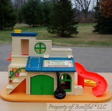 BonEful VTG FISHER PRICE Little People TOY SET SESAME STREET Child House Antique