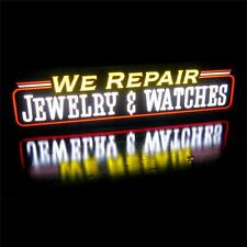 New LED We Repair Jewelry Watches Pawn Shop Sign Light Box Sign Neon Alternative