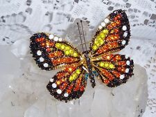 "Gorgeous JOAN RIVERS Multi-Color Crystal BUTTERFLY Brooch  NEW  ""SALE"""