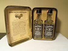 Jack Daniel's Tin W/2 1/10th Pint Bottles 90 Proof 1978