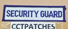 SECURITY GUARD TAG OR TAB (POLICE) PATCH