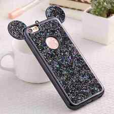 Bling Paillettes Soft Slim Case Mickey Ear Protective Cover for iPhone 6 6s Plus