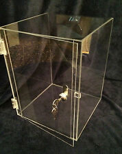 MARCH SPECIAL    Acrylic Display Case  10x10x16.5  Showcase (revolve avail)