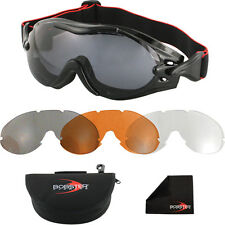 Bobster Phoenix Over The Glass Interchangeable Goggles Black