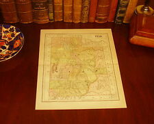 Original 1890 Antique Map UTAH West Jordan Provo Sandy Salt Lake City Ogden UT