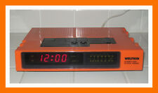 WELTRON COMPUTER CLOCK RADIO Vintage 1960/1970s ORANGE COLOR VERSION VERY RARE!