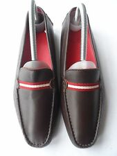 BALLY BRAND NEW 'TELMO' BROWN LEATHER LOAFERS-SIZE 6 UK/39 EU/ 8.5 US EXCELLENT