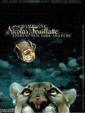 PUBLICITE ADVERTISING 046  2000  Chamapgne  Nicolas Feuillatte
