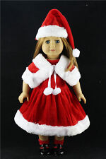 2016 new Christmas clothes dress for 18inch American girl doll children gift b5