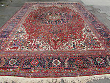 Antique Traditional Persian Wool Red Oriental Hand Made Large Carpet 460x342cm