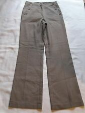 WOMENS DESIGNER OKY COKY SAILOR STYLE PANTS SIZE 4 - 6 (38) LIGHT BROWN