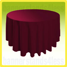 """70"""" Inch Round Table Cover Wedding Banquet Event Tablecloth - BURGUNDY RED"""