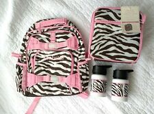 Pottery Barn Kids Zebra Small Backpack ISABELLE  classic Lunchbox  water bottles