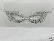 Hotfix Strass Motif D'étrier Masque Carnaval Venise Cristal argent 130819