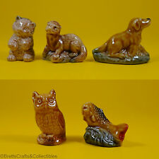 Wade Whimsies (1972/84) Set #3 - Owl, Trout, Bear Cub, Setter & Otter