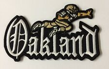 """VINTAGE IRON ON EMBROIDED PATCH OAKLAND RAIDERS 4""""x 2 1/2"""