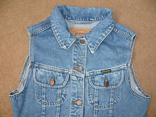 WRANGLER LADIES SLEEVELESS DENIM JACKET MID BLUE S/M SLJKT125