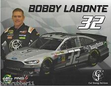 "2015 BOBBY LABONTE ""C&J ENERGY SERVICES"" #32 NASCAR SPRINT CUP POSTCARD"