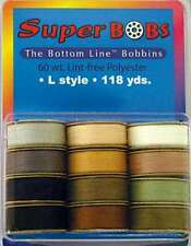 Super Bobs-The Bottom Line Bobbins by Superior Threads-Neutrals Assortment 2