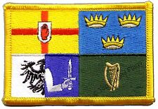 Ireland 4 provinces Flag EMBROIDERED PATCH 8x6cm Badge