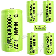 6 x D size 10000mAh 1.2V NiMH Ni-MH Rechargeable LR20 Battery Green New