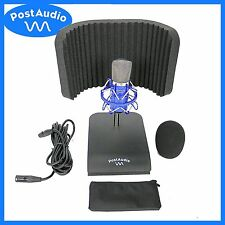 Post Audio Studio Bundle C81 Condenser Mic ARF-59 Reflection Filter & Desk Stand