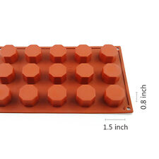 15-Cavity Silicone Ice Cube Chocolate Cake Mold Cookies Mold  Soap Jelly Candy