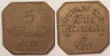 54 - Longwy, Aciéries de Longwy, Hôtel Economat, 5 Centimes 1883 !!