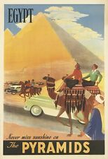 Egypt Vintage Travel Poster Fridge Magnet Egypt The Pyramids
