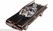 1966 TV SERIES BATMOBILE WITH BATMAN & ROBIN FIGURES 1/18 BY HOTWHEELS DJJ39