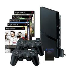 SONY Playstation 2 Slim black (PS2)+ 10 Games + 2 Controller + Memory Card