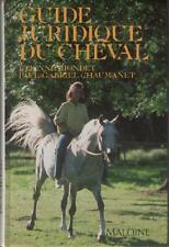 Guide Juridique du Cheval EQUITATION Riondet & Chaumanet RESUME & SOMMAIRE 2DANS
