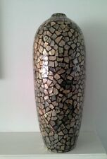 Tall Ceramic Glass Mosaic Floor Vase, Decorative, Flowers, Home decor