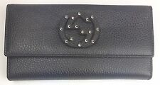 AUTHENTIC New Gucci Studded GG Brown Leather Women's Wallet #231843, NWT