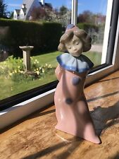 LLADRO/NAO PINK GIRL CLOWN FIGURINE made in Spain Beautiful condition