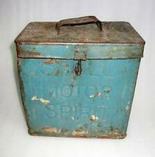 Vintage Old Collectible Rare SHELL MOTOR SPIRIT Advertisement Tin / Cans-tier