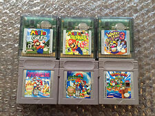 Super Mario Land 1+2+3 + Wario Land 3 + Mario Golf + Tennis (Game Boy Color LOT)