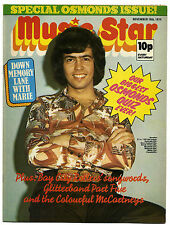 MUSIC STAR Magazine 16/11/1974 Osmonds Paul McCartney/Wings Gary Glitter Band